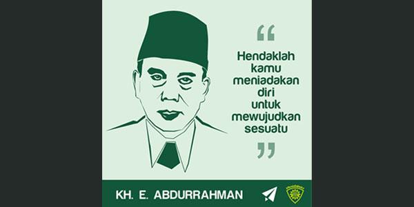 KH. E. ABDURRAHMAN; WAJAH DAN WIJHAH ULAMA NUSANTARA YANG MUTAFAQQIH FIED DIIN