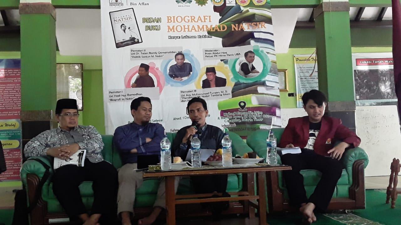 HAYAT JUANG POLITIK SANTUN SANG KHÂDIMUL UMMAH (Dari Pojok Diskusi Buku Biografi Mohammad Natsir di STAI Persatuan Islam Jakarta)